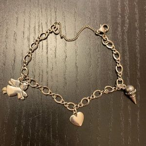 James Avery Charm Bracelet with 3 soldered charms